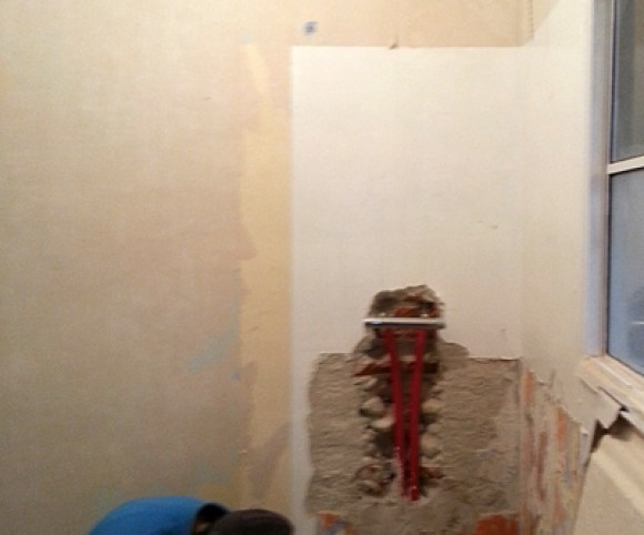 Préparation des supports salle de bain