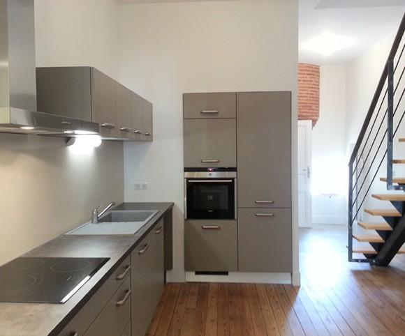 Rénovation cuisine et escalier appartement Toulouse