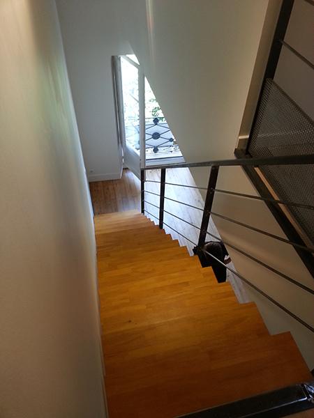 peinture renovation escalier amazing rnovation des peintures de cages duescalier duimmeubles. Black Bedroom Furniture Sets. Home Design Ideas