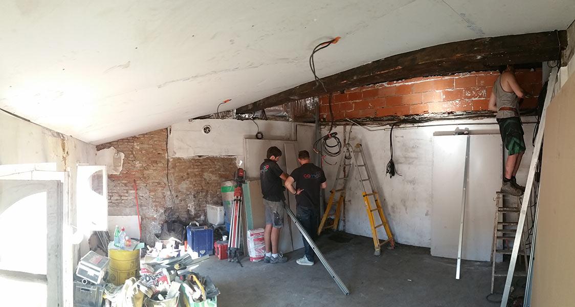 r novation d 39 un appartement studio toulouse place des puits clos gama renovation. Black Bedroom Furniture Sets. Home Design Ideas
